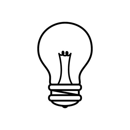 light bulb pop art style icon vector illustration design