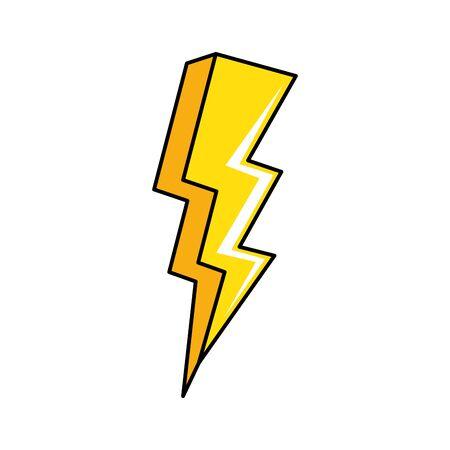 thunderbolt pop art style icon illustration design Çizim