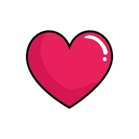 heart love pop art style icon  illustration design