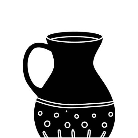 silhouette teapot of pottery decorative isolated icon vector illustration design