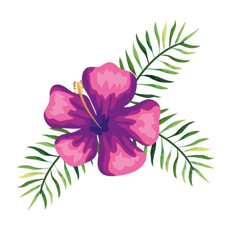 flower natural with branches and leafs vector illustration design  イラスト・ベクター素材