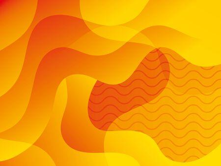 waves background yellow color icon vector illustration design 版權商用圖片 - 136885813