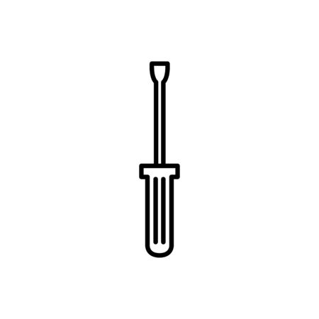 screwdriver design, Construction work repair reconstruction industry build and project theme Vector illustration