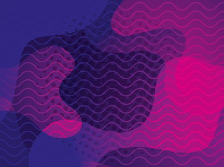 waves background pink and purple colors vector illustration design 版權商用圖片 - 136948929