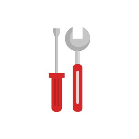 wrench and screwdriver design, Construction work repair reconstruction industry build and project theme Vector illustration Foto de archivo - 136950170