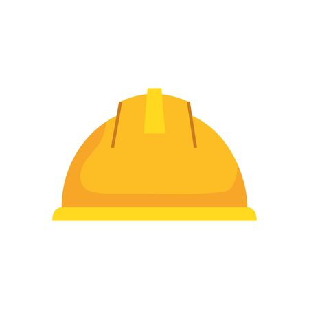 helmet design, Construction work repair reconstruction industry build and project theme Vector illustration Foto de archivo - 136953428