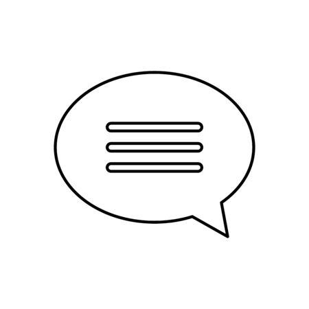 Communication bubble icon design, Message discussion conversation talk and technology Vector illustration Illustration
