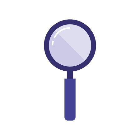 Loupe icon design, Tool search magnifying glass zoom lens and exploration theme Vector illustration