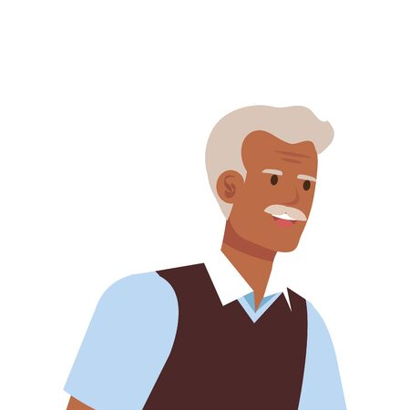 old man elegant avatar character vector illustration design 版權商用圖片 - 136966148