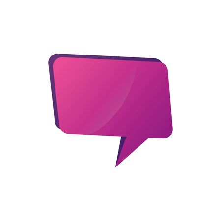 speech bubble communication isolated icon vector illustration design Imagens - 136985459