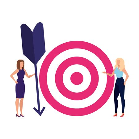 Target and people design, Solution success strategy idea problem innovation and creativity theme Vector illustration