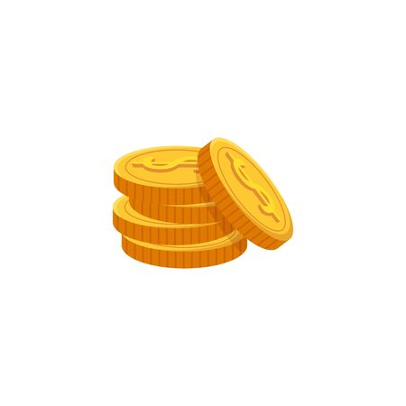 pile of coins money isolated icon vector illustration design