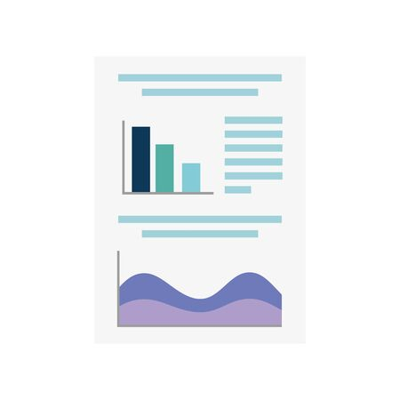Workflow document design, Infographic data information business analytics and visual presentation theme Vector illustration
