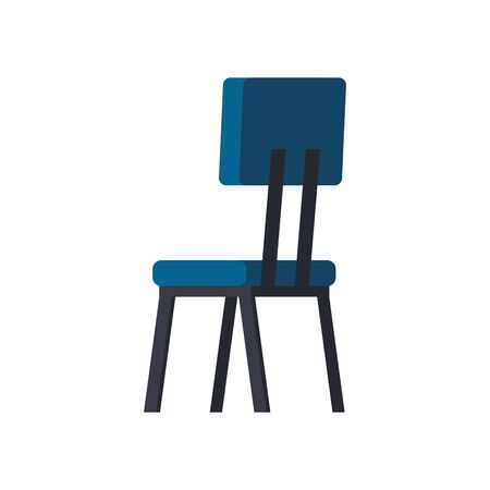 wooden chair furniture isolated icon vector illustration design Foto de archivo - 137040544