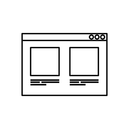web page template line style icon vector illustration design
