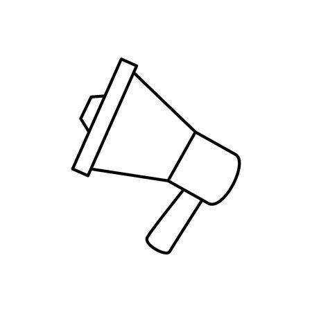 Megaphone icon design, Amplifer speaker bullhorn announce speech message communication and sound theme Vector illustration Vektorové ilustrace