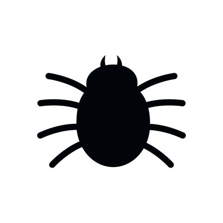 halloween spider insect isolated icon vector illustration design  イラスト・ベクター素材