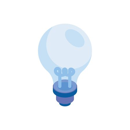 light bulb idea isolated icon vector illustration design