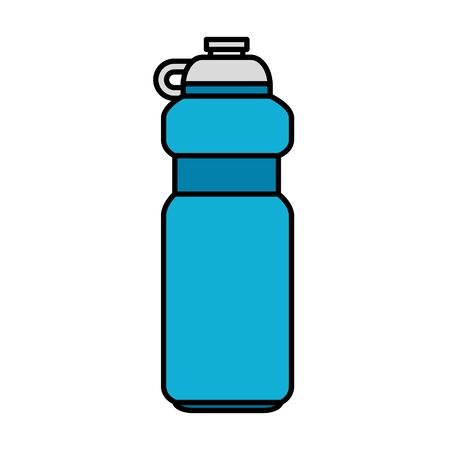 bottle gym isolated icon vector illustration design