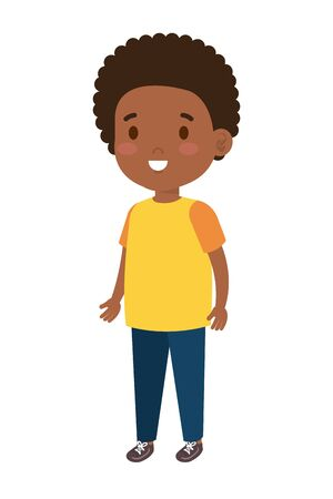 little african boy kid character vector illustration design 向量圖像