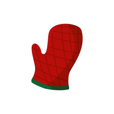 glove kitchen safety isolated icon vector illustration design