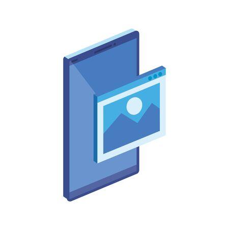 smartphone device technology isolated icon vector illustration design Ilustración de vector