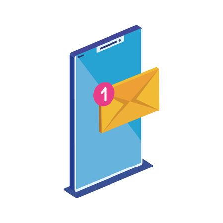 Smartphone design, Digital technology communication social media internet and web theme Vector illustration Ilustración de vector