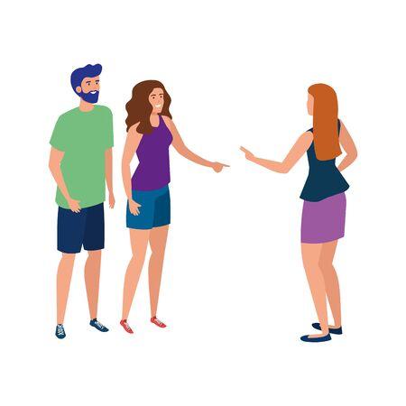 People avatars design, Male female Person human profile user theme Vector illustration
