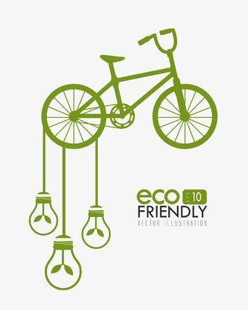 Ecology design over white background, vector illustration.