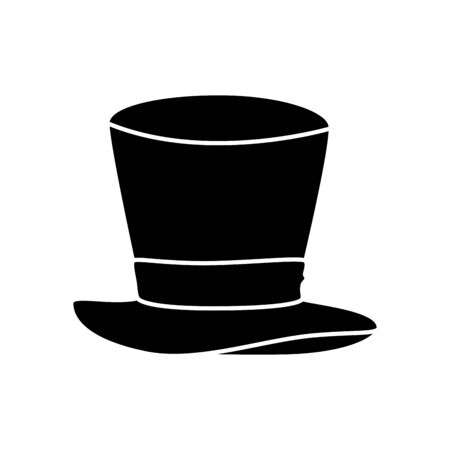 hat top magician isolated icon vector illustration design