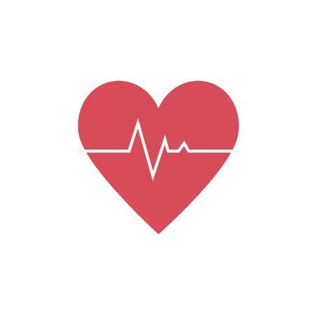 impulso di frequenza cardiaca isolato icona illustrazione vettoriale design Vettoriali