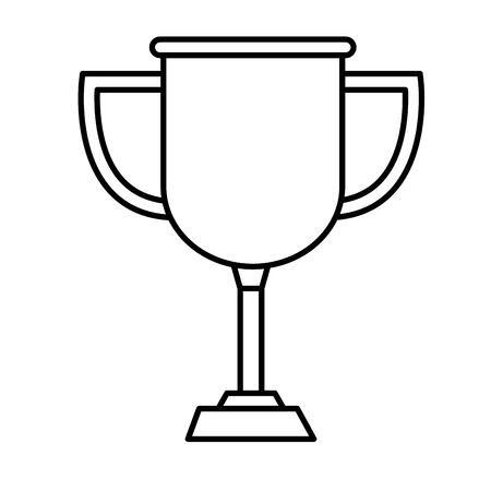 Trophée coupe prix icône isolé vector illustration design Vecteurs