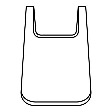 plastic bag recycle element vector illustration design