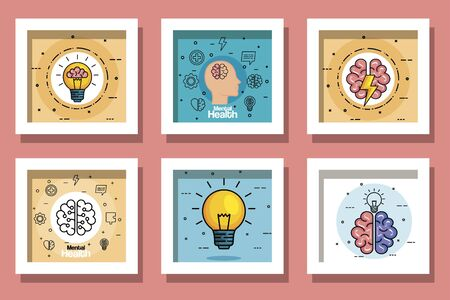 set designs of health mental day vector illustration design Vecteurs