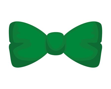 elegant bowtie accessory icon vector illustration design