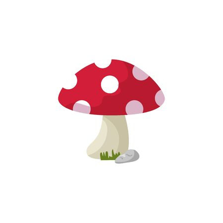 fungus plant fairytale isolated icon vector illustration design