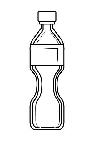 plastic bottle recycle icon vector illustration design Vettoriali