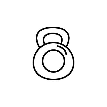 dumbbell equipment gym line style icon vector illustration design