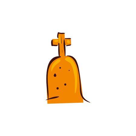 halloween tomb of cemetery isolated icon vector illustration design Stockfoto - 137365680