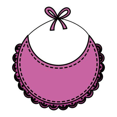 Bavoir bébé vecteur icône isolé illustration design Vecteurs