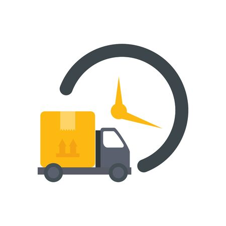 delivery service with truck transportation isolated icon vector illustration design Ilustração Vetorial