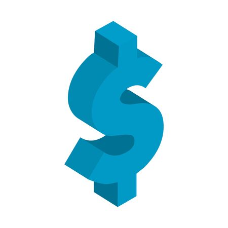 dollar currency symbol isolated icon vector illustration design 向量圖像