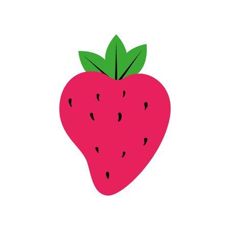 delicious strawberry pop art style icon vector illustration design
