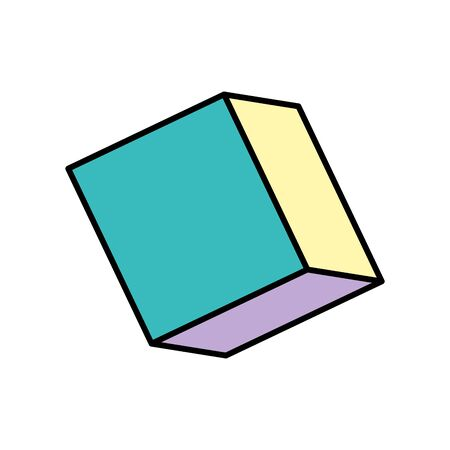 cube isometric style isolated icon vector illustration design