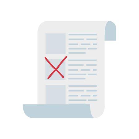 Abstimmungsformular mit Kandidaten isoliert Symbol Vektor Illustration Design