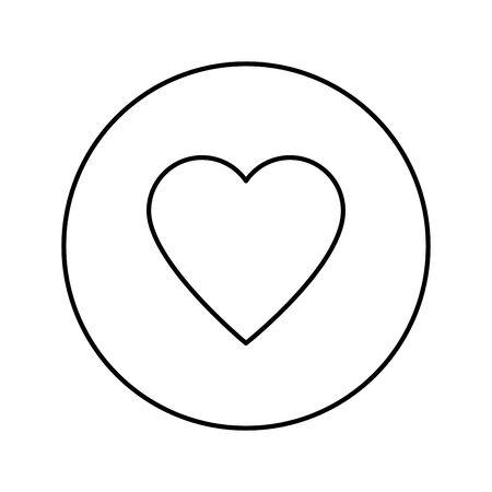 heart social media reaction isolated icon vector illustration design