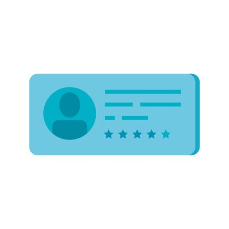 vote form with candidat isolated icon vector illustration design