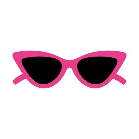 Diseño del ejemplo del vector del icono del estilo del arte pop de las gafas de sol Ilustración de vector