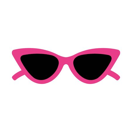 lunettes de soleil pop art style icône illustration vectorielle design Vecteurs