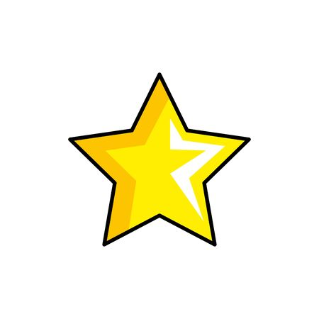star yellow color style pop art vector illustration design Ilustração